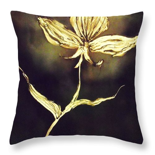 Flower Throw Pillow featuring the painting Untitled by Anna Villarreal Garbis