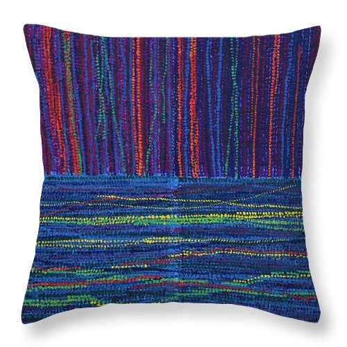 Inspirational Throw Pillow featuring the painting Untitled by Kyung Hee Hogg
