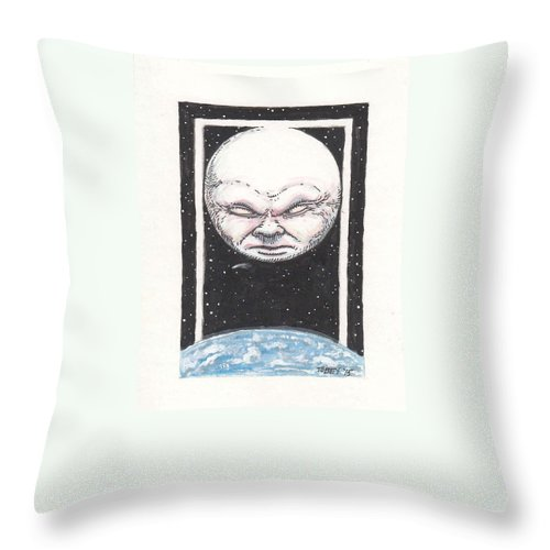 Furniture Throw Pillow featuring the drawing Untitled by Tobey Anderson