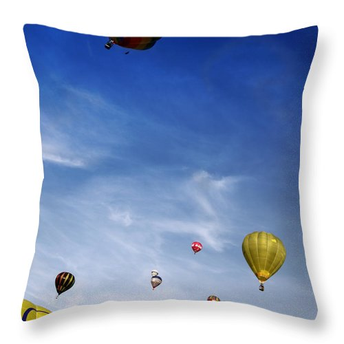 Balloon Throw Pillow featuring the photograph Up To The Sky by Angel Ciesniarska