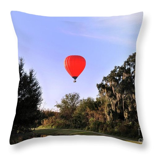 Balloon Throw Pillow featuring the photograph Up Up And Away by John Black