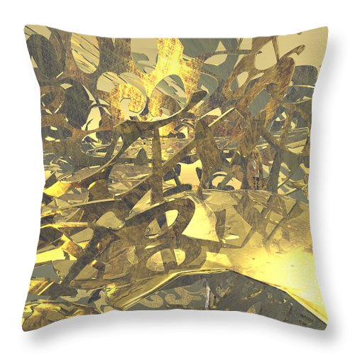 Scott Piers Throw Pillow featuring the painting Urban Gold by Scott Piers
