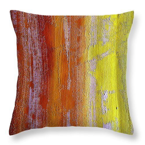 ruth Palmer Throw Pillow featuring the painting Vertical Interfusion by Ruth Palmer