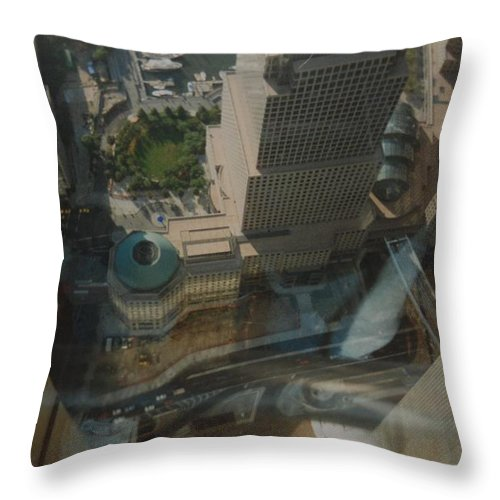 Wtc Throw Pillow featuring the photograph View From The W T C by Rob Hans