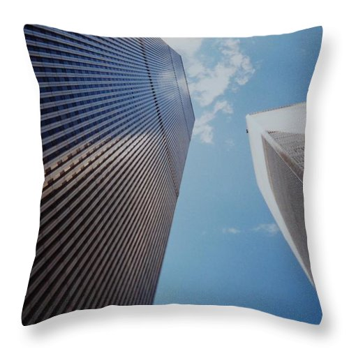 Wtc Throw Pillow featuring the photograph W T C 1 And 2 by Rob Hans