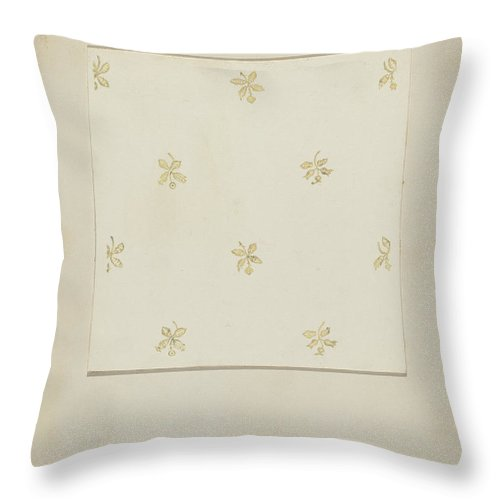 Throw Pillow featuring the drawing Wall Paper by George Robin