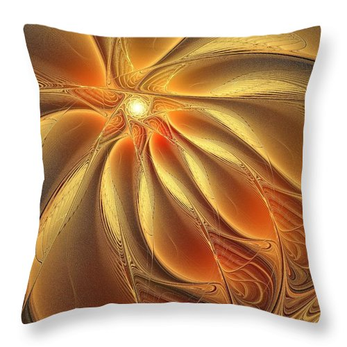 Digital Art Throw Pillow featuring the digital art Warm Feelings by Amanda Moore