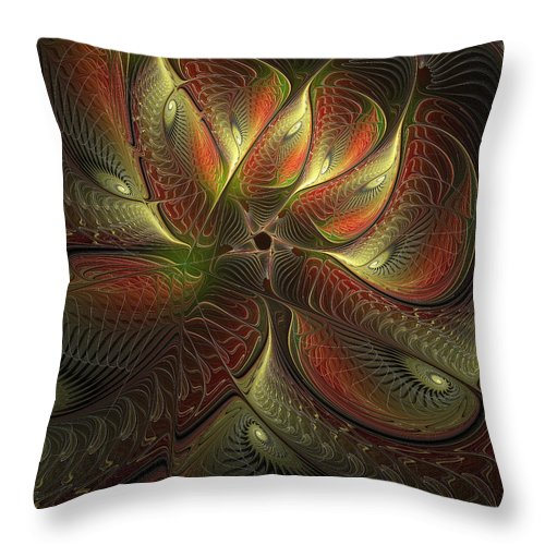 Digital Art Throw Pillow featuring the digital art Watchful by Amanda Moore