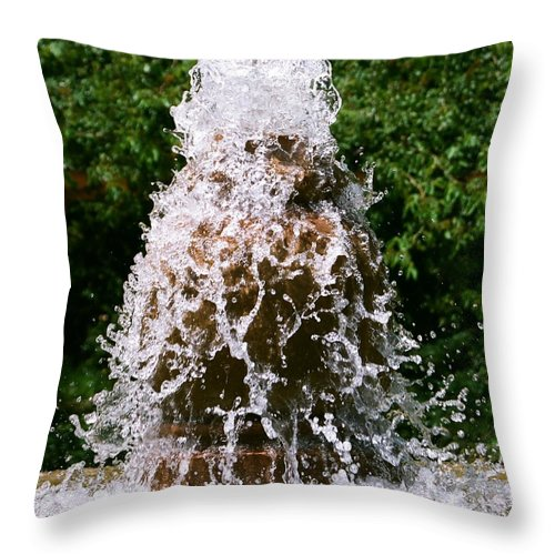 Water Throw Pillow featuring the photograph Water Fountain by Dean Triolo