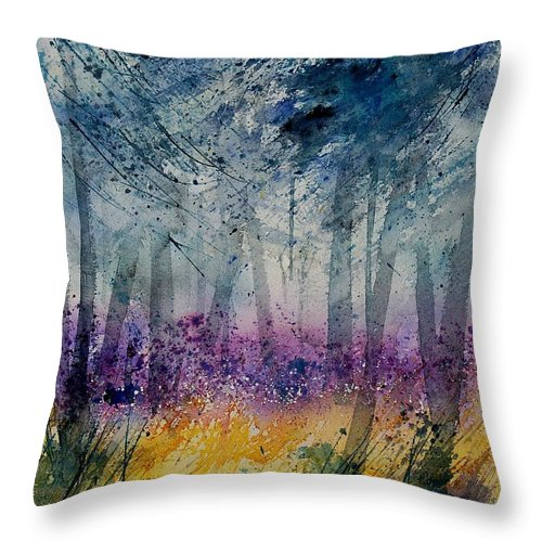 Flowers Throw Pillow featuring the painting Watercolor 130608 by Pol Ledent