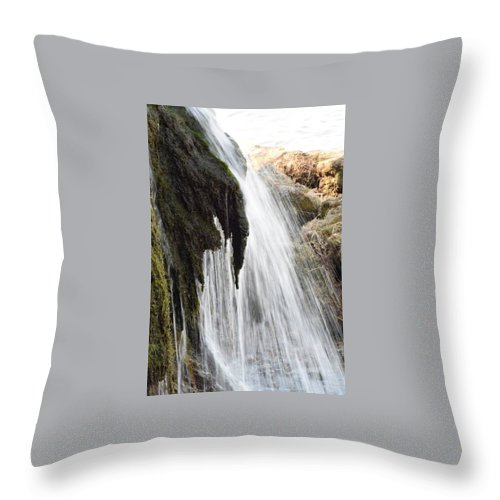 Throw Pillow featuring the photograph Waterfall by Renee Seastrom