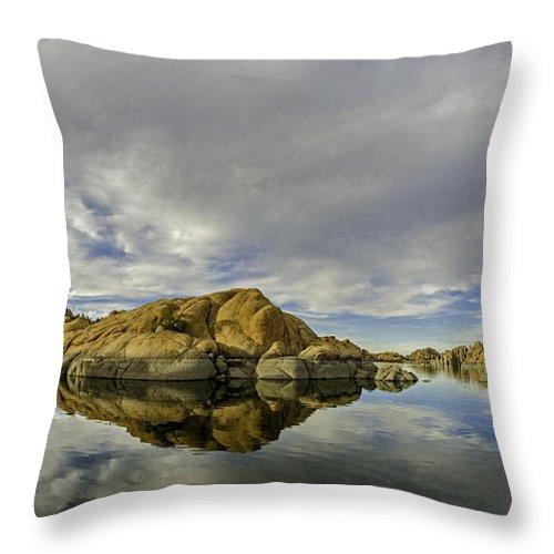 Arizona Throw Pillow featuring the photograph Watson Lake 2 by Tom Clark