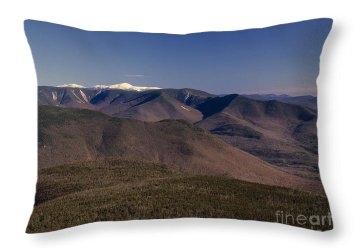 Appalachian Trail Throw Pillow featuring the photograph White Mountains Nh Usa by Erin Paul Donovan