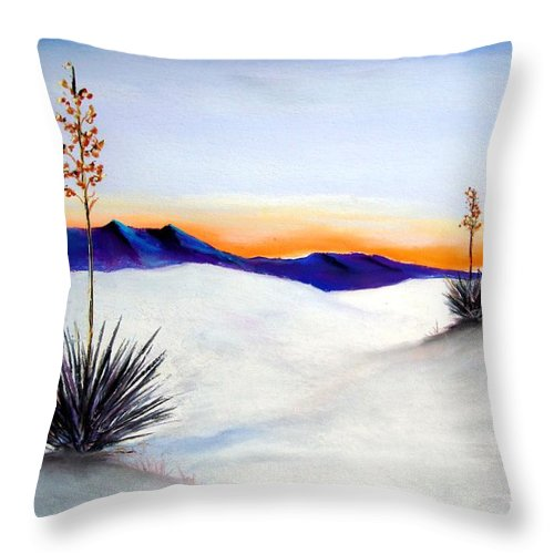 White Sands Throw Pillow featuring the painting White Sands by Melinda Etzold