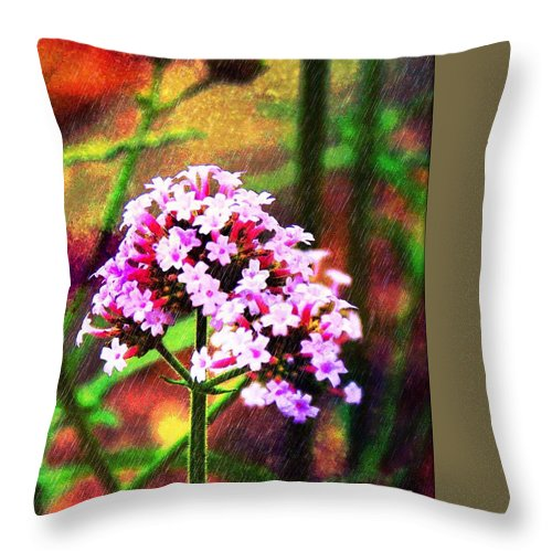 Photograph Throw Pillow featuring the photograph Wildflower by MaryLee Parker