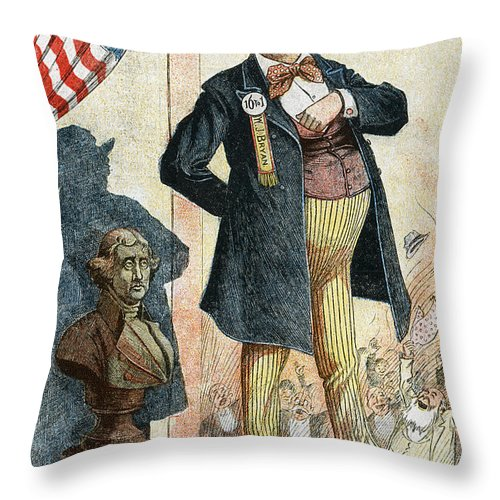 1899 Throw Pillow featuring the photograph William Jennings Bryan by Granger