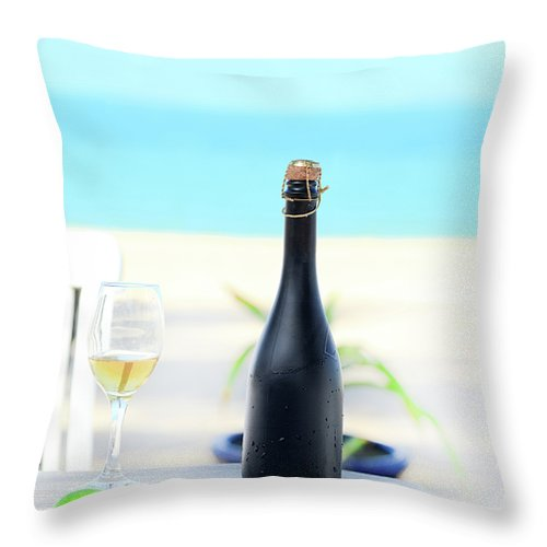 Banquet Throw Pillow featuring the photograph Wine by MotHaiBaPhoto Prints
