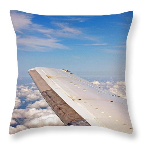 Donna Proctor Throw Pillow featuring the photograph Winging It by Donna Proctor