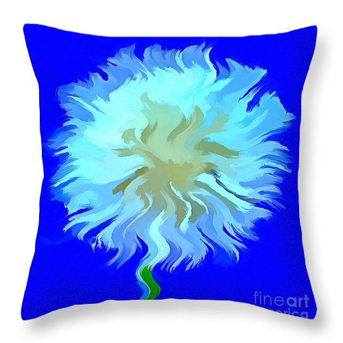 Dandelion Throw Pillow featuring the photograph Wish Of A Lifetime by Krissy Katsimbras