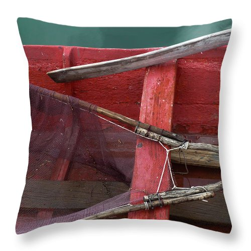 Photography Throw Pillow featuring the photograph Works Of The Journey I06 by Andreas Theologitis