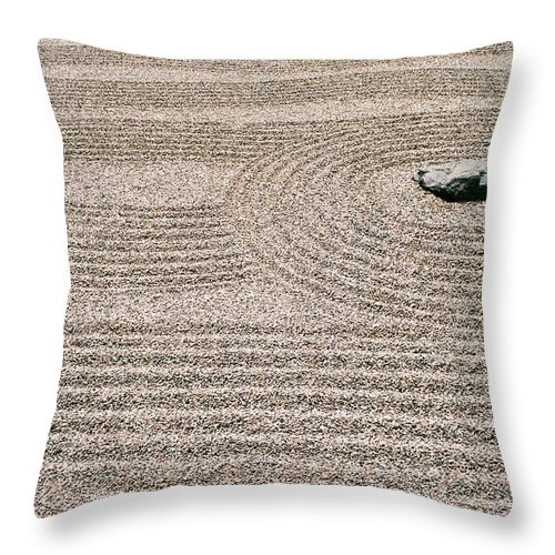 Zen Throw Pillow featuring the photograph Zen Garden by Dean Triolo