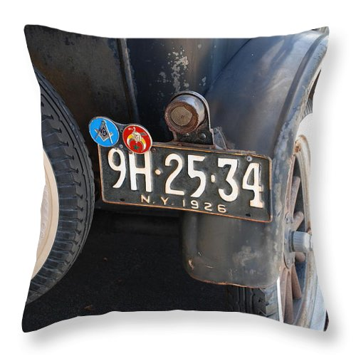 Numbers Throw Pillow featuring the photograph 1926 Model T Ford by Rob Hans