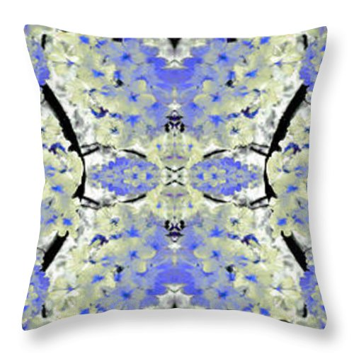 Collage Throw Pillow featuring the painting Floral Mural by Bruce Nutting