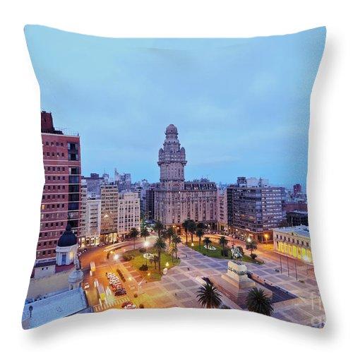 South America Throw Pillow featuring the photograph Montevideo, Uruguay by Karol Kozlowski