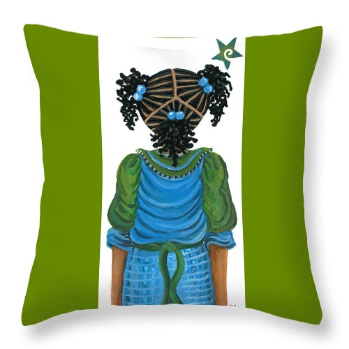 Throw Pillow featuring the painting Michelle by Sonja Griffin Evans