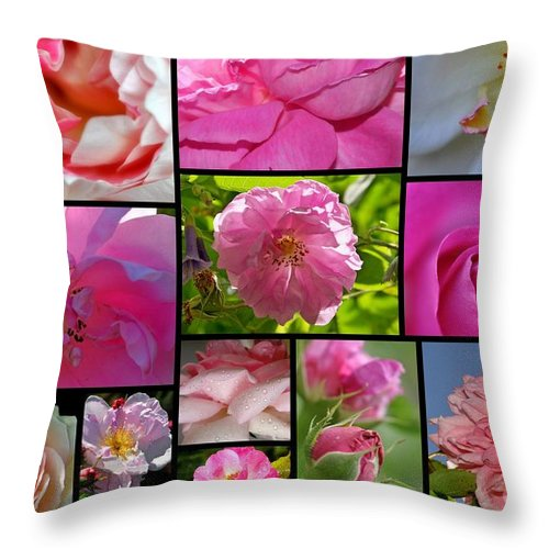 Throw Pillow featuring the photograph Roses by Sylvie Leandre