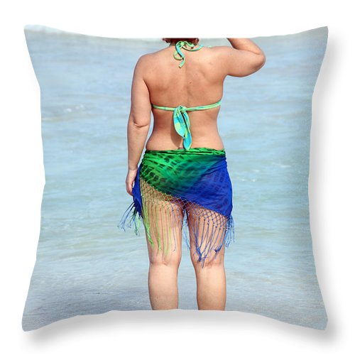 Sexy Throw Pillow featuring the photograph Female Beauty. by Oscar Williams