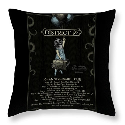 Throw Pillow featuring the digital art 10th Anniversary Tour by District 97
