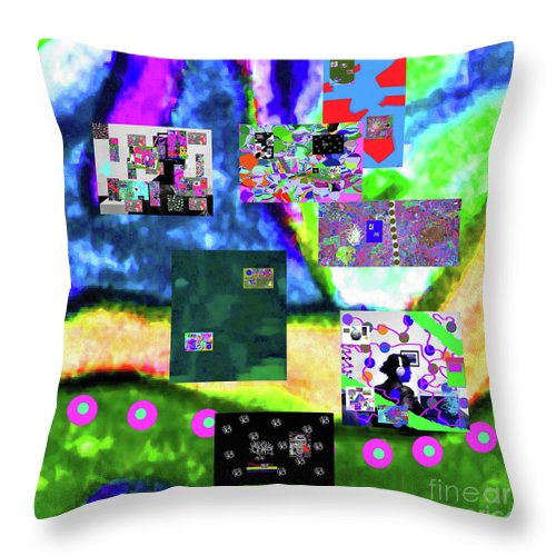 Walter Paul Bebirian Throw Pillow featuring the digital art 11-11-2015abcdefghijklmnopqrtuvwxyzabcdefg by Walter Paul Bebirian