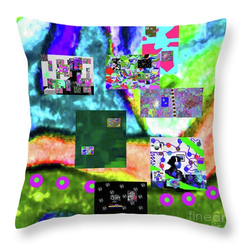 Walter Paul Bebirian Throw Pillow featuring the digital art 11-11-2015abcdefghijklmnopqrtuvwxyzabcdefghi by Walter Paul Bebirian