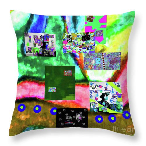 Walter Paul Bebirian Throw Pillow featuring the digital art 11-11-2015abcdefghijklmnopqrtuvwxyzabcdefghijklm by Walter Paul Bebirian
