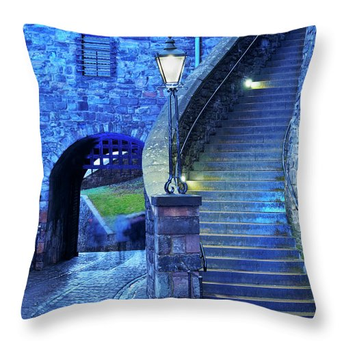 Europe Throw Pillow featuring the photograph Edinburgh Castle, Scotland by Karol Kozlowski