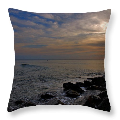 Sunrise Throw Pillow featuring the photograph 11- Singer Island by Joseph Keane