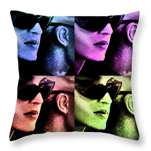 Popart Throw Pillow featuring the photograph 11438 Mannequin Series 11-14 Can You Keep A Secret Pop Art 2 by Colin Hunt