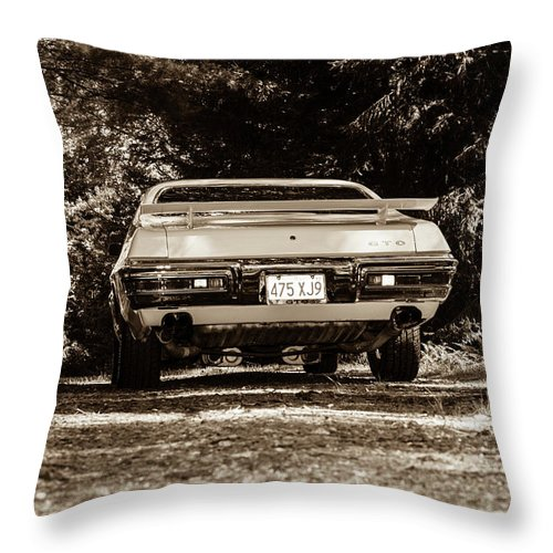 Gto Throw Pillow featuring the photograph classic Cars by Mickie Bettez