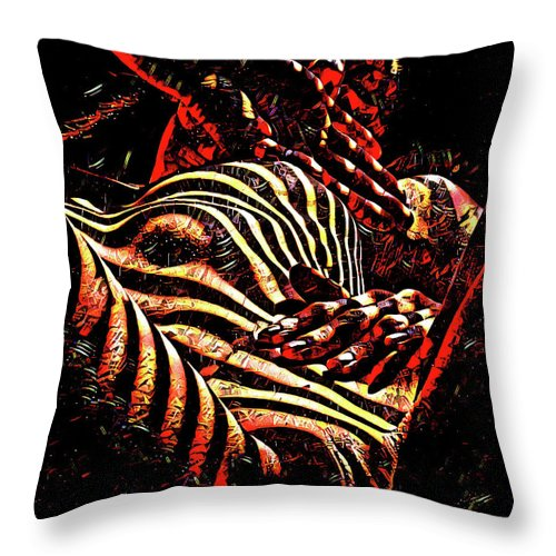 1206s Ak Intimate Nude Woman Rendered As Abstract Oil Painting Throw Pillow For Sale By Chris Maher