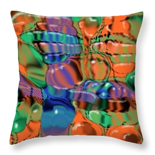 Abstract Throw Pillow featuring the digital art 1297exp1 by Ron Bissett