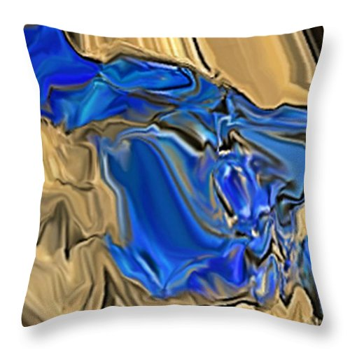 Abstract Throw Pillow featuring the digital art 1297exp6 by Ron Bissett