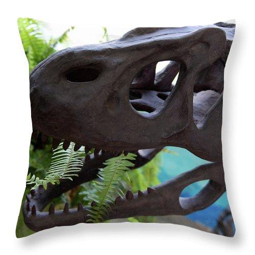 Centro De Investigaciones Paleontologicas Throw Pillow featuring the digital art Centro De Investigaciones Paleontologicas by Carol Ailles