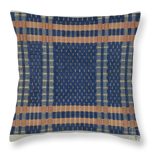Throw Pillow featuring the drawing Coverlet by Cornelius Christoffels