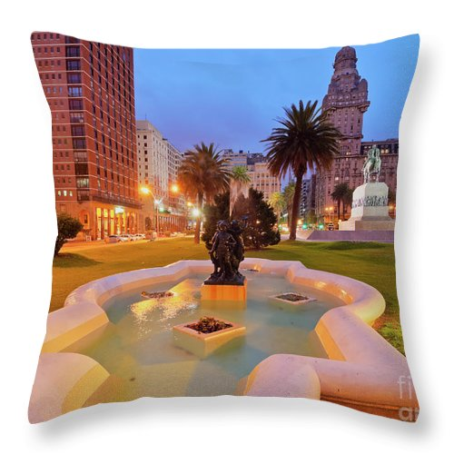 South America Throw Pillow featuring the photograph Montevideo, Uruguay by Karol Kozlowski