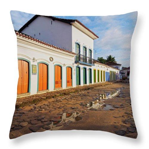 South America Throw Pillow featuring the photograph Paraty, Brazil by Karol Kozlowski