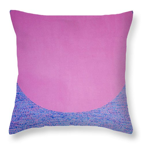 Inspirational Throw Pillow featuring the painting Perfect Existence by Kyung Hee Hogg