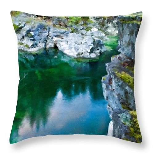 C Throw Pillow featuring the digital art R G Landscape by Malinda Spaulding
