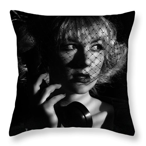Hollywood Throw Pillow featuring the photograph Film Noir by Amanda Elwell