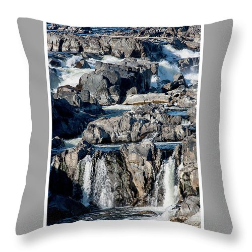 Great Throw Pillow featuring the photograph Great Falls Of The Potomac by Margie Wildblood